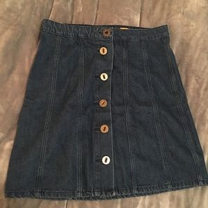 Button down jean skirt ~ Anthropologie ~
